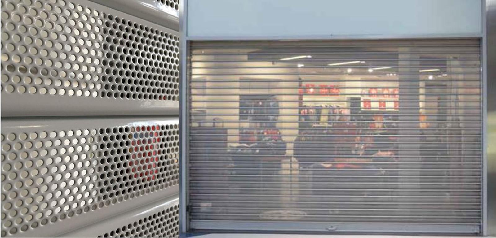 rideau métallique boutique - RM31